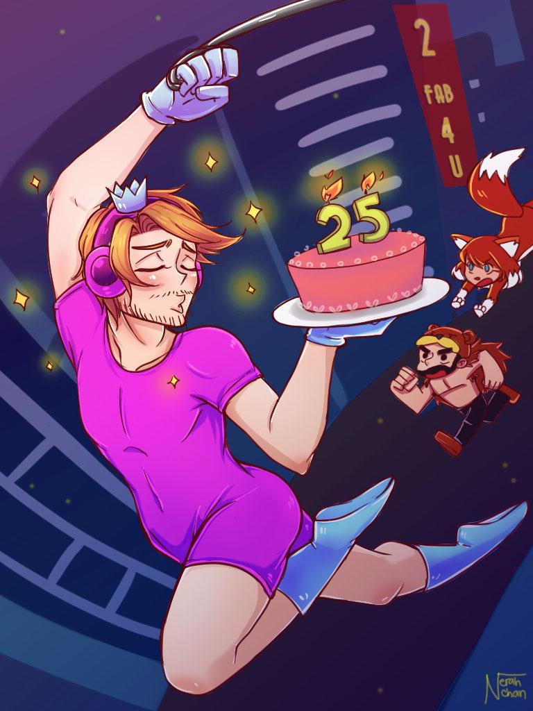Happy 25th Birthday Pewds! by Nerah-chan