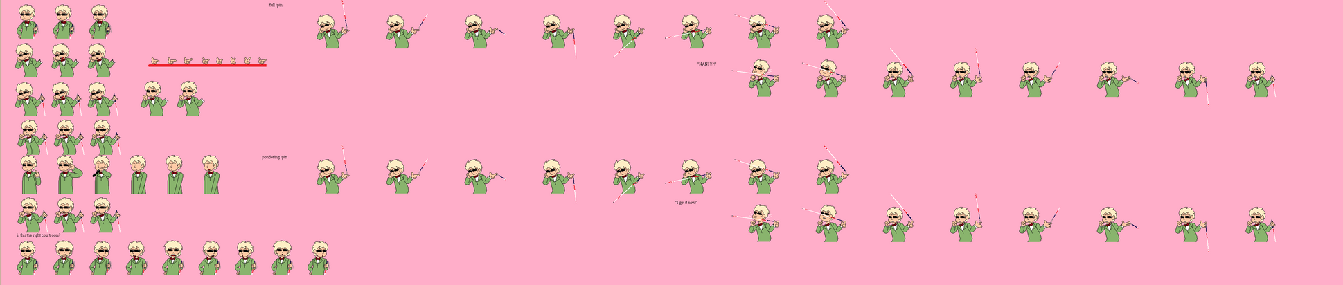 Heeden Ray Robin *Scrapped Sprite Sheet* by RacketFewl