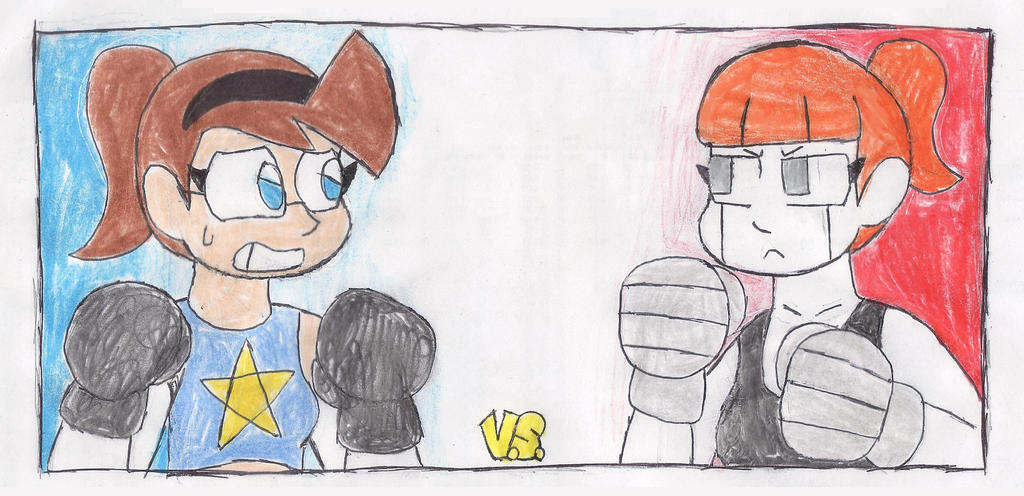The Slacker Cyborg V.S. The Andromedus Android by RacketFewl