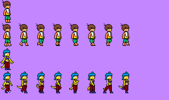 Gym Hub Walking Sprites by RacketFewl