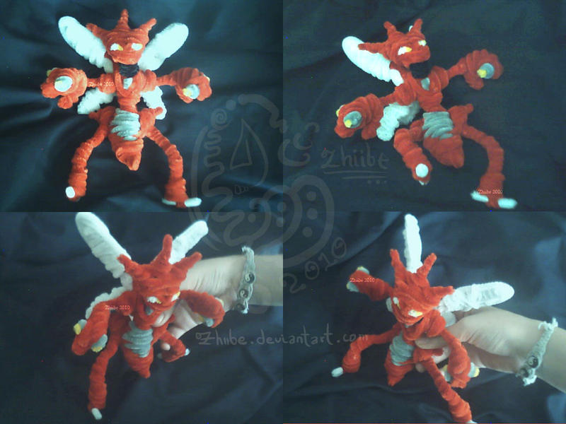 Scizor - PipeCleaners by Zhiibe