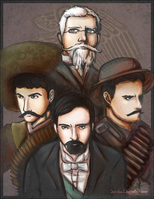 Revolucion Mexicana Ilustrada by Zhiibe