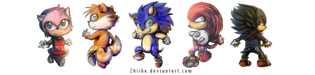 Sonic Chibis by Zhiibe