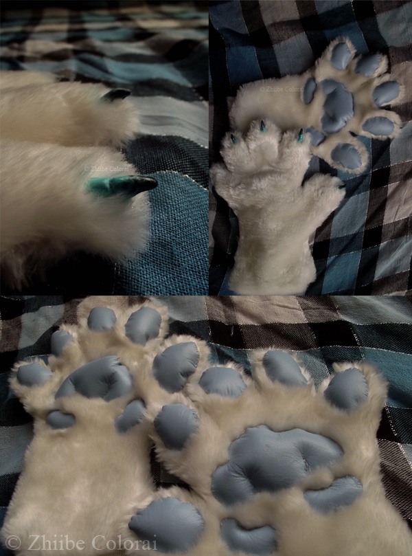 Tac'Zhii hand paws by Zhiibe