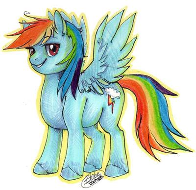 Rainbow Dash by Zhiibe