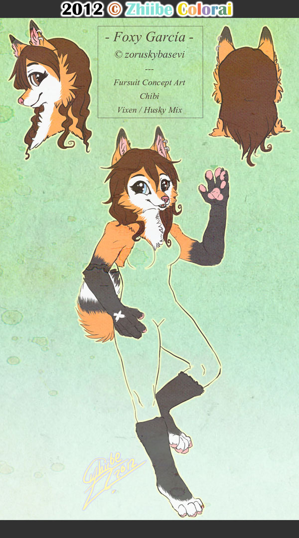 Foxy Garcia - Fursuit Concept Art by Zhiibe