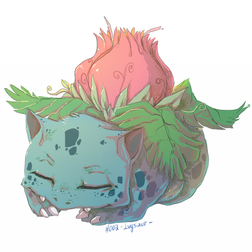 PKMN 002 Ivysaur by Zhiibe