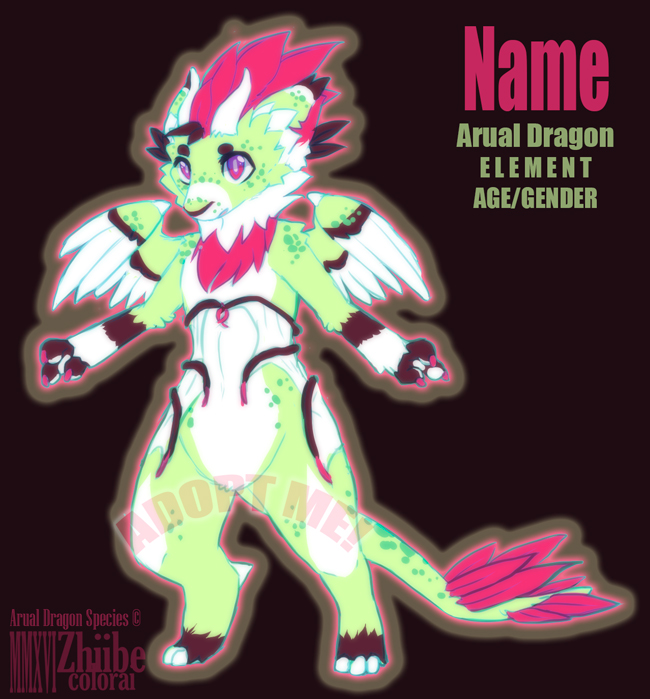 CLOSED Arual Dragon Adopt #04 CLOSED by Zhiibe