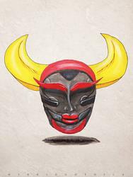 Nightmarish Japanese Demon. by hybridgothica