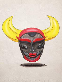 Nightmarish Japanese Demon.