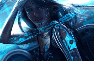 Cyberfunk Haka. by hybridgothica