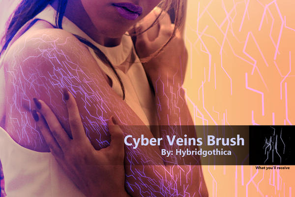 Cyber Veins Brush. by hybridgothica