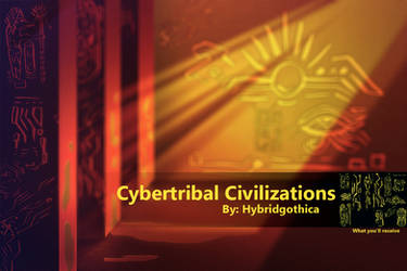 Cybertribal Civilizations Brushes. by hybridgothica