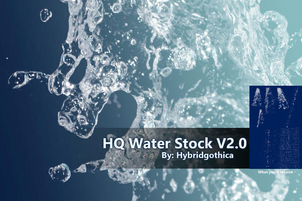 HQ Water Stock V2 By Hybridgothica by hybridgothica