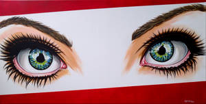 Eyes now in acrylic
