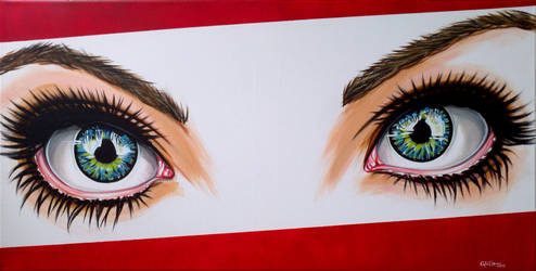 Eyes now in acrylic by Togusa76