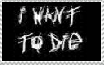 i want to die stamp by gamerXgirl