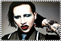 marylin manson stamp by gamerXgirl