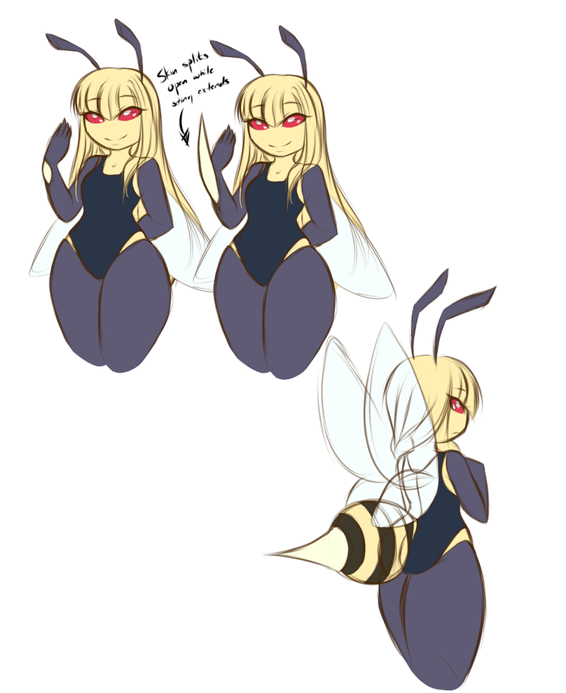 The anatomy of a bee by TheOG-RB on DeviantArt