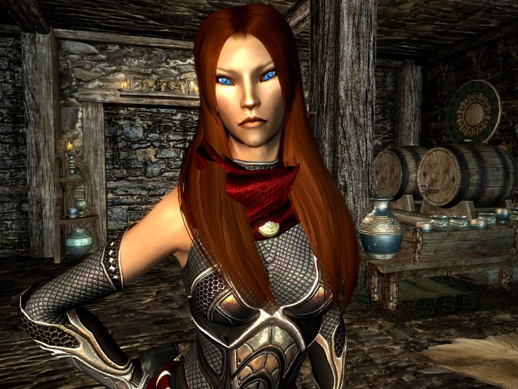 Skyrim: Nylesia donning the Shadow Assassin armor by DeathianDragonFear