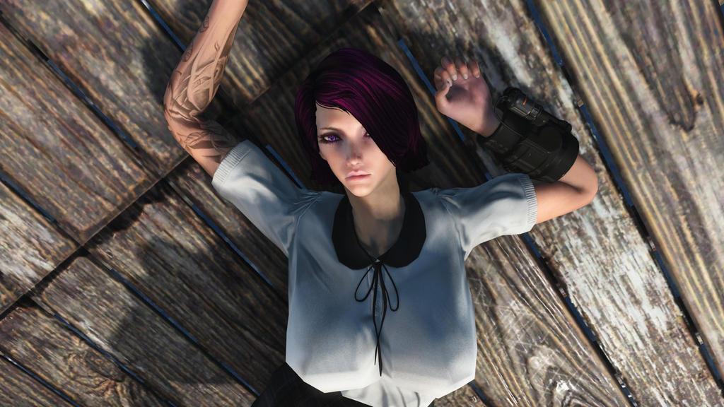 Fallout 4: Resting Easy Samantha by DeathianDragonFear