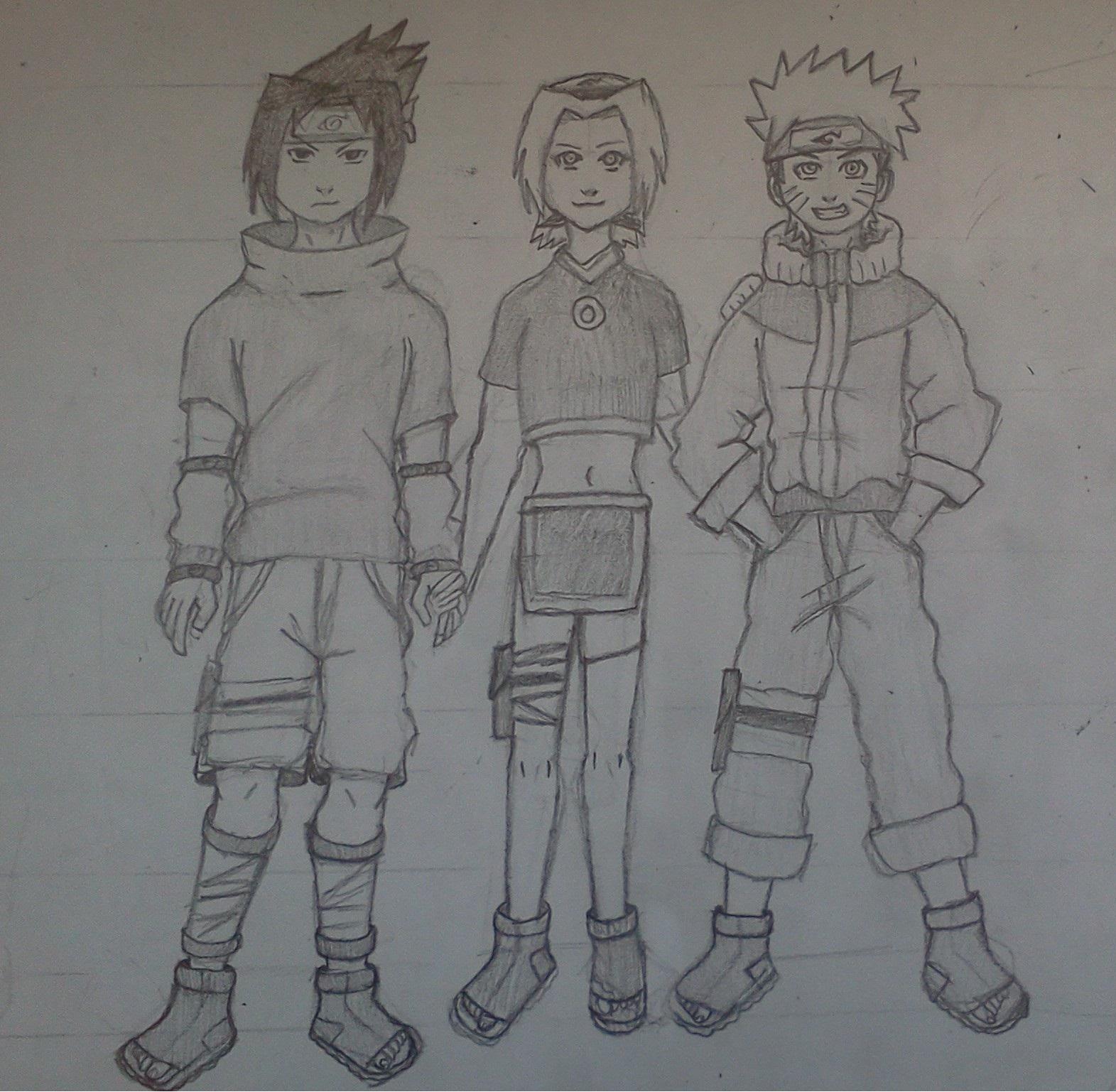 Sasuke, Sakura, Naruto by Mihayla