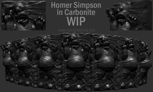Homer Simpson in Carbonite WIP