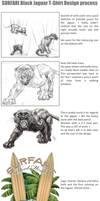 Black Jaguar art process