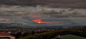 Sunset in Costa Rica Dec 11 2011