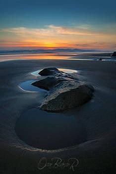 Sunset at Playa Tivives