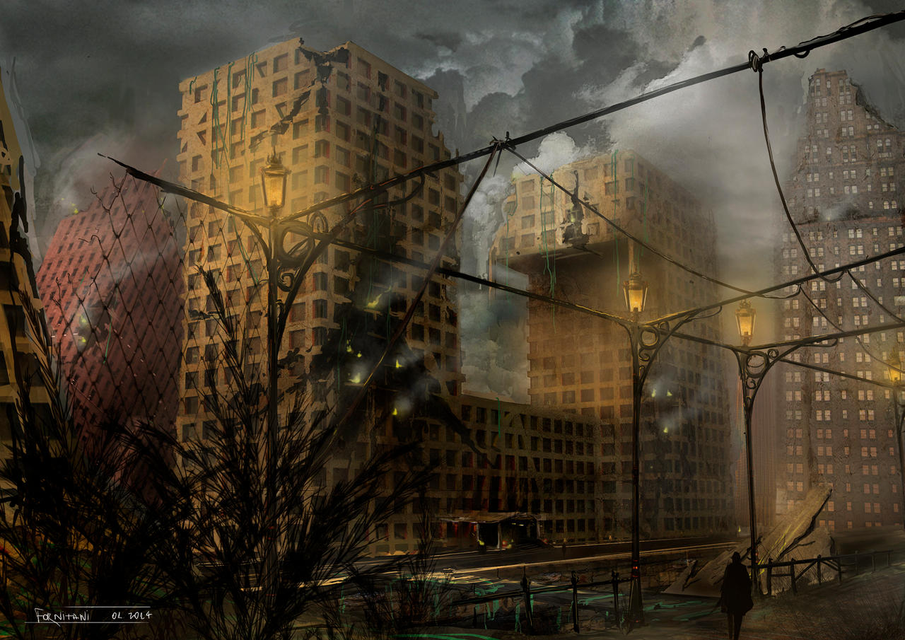 Destroyed city by Feli...