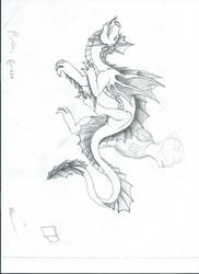 storm's dragon form by craftydrake