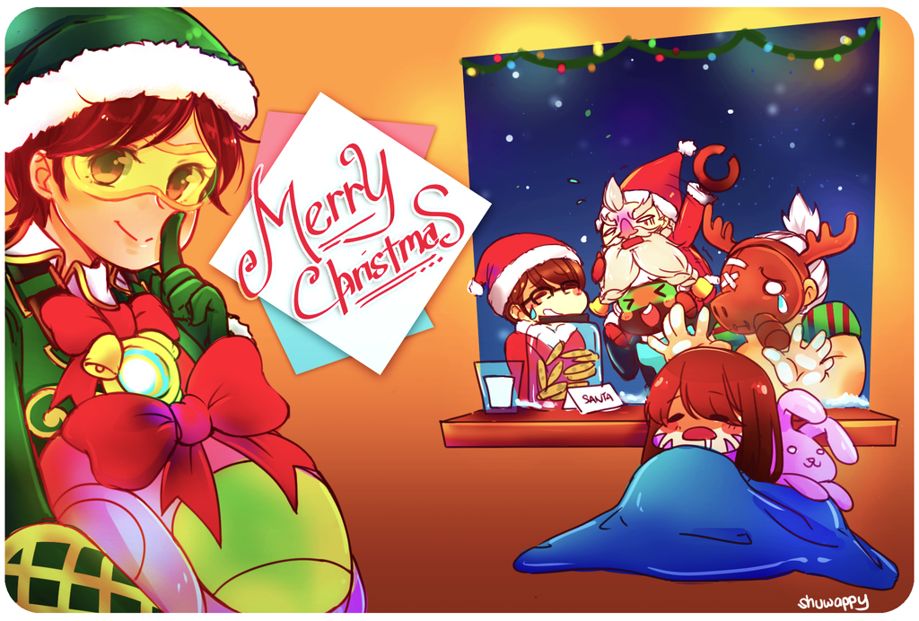 Overwatch christmas by shuwappy on deviantart - Overwatch christmas wallpaper ...