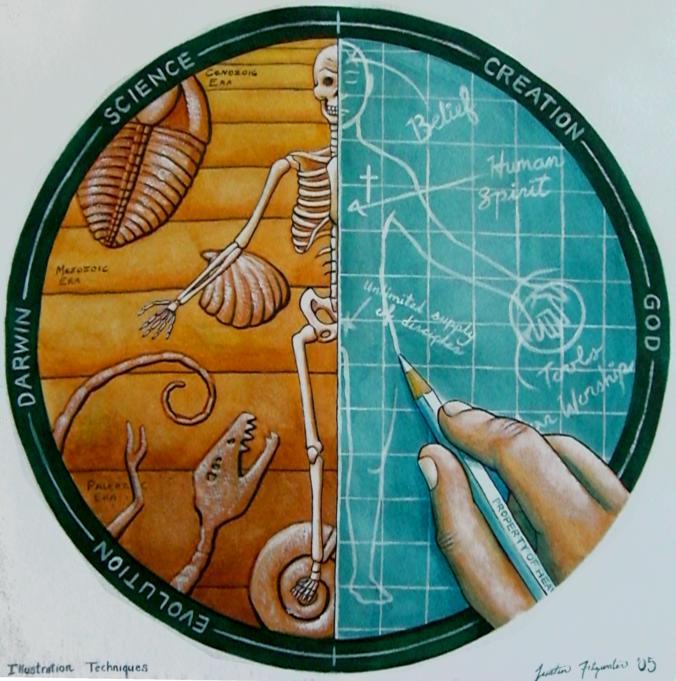 Evolution vs. Creation by geekblz on DeviantArt