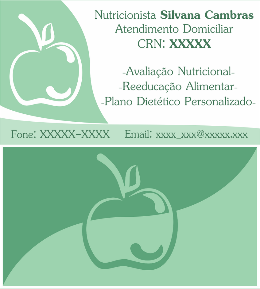 Business Card - Cartao de Visita Nutricionista by PadeiroSteampunk
