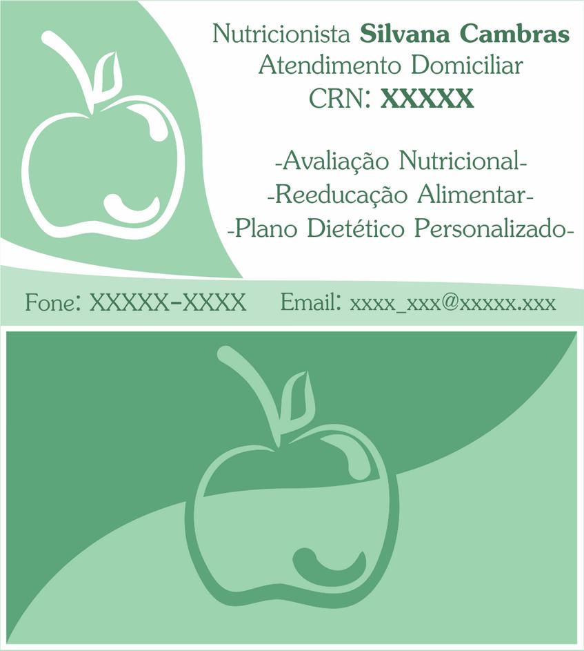 Business Card - Cartao de Visita Nutricionista by PadeiroSteampunk