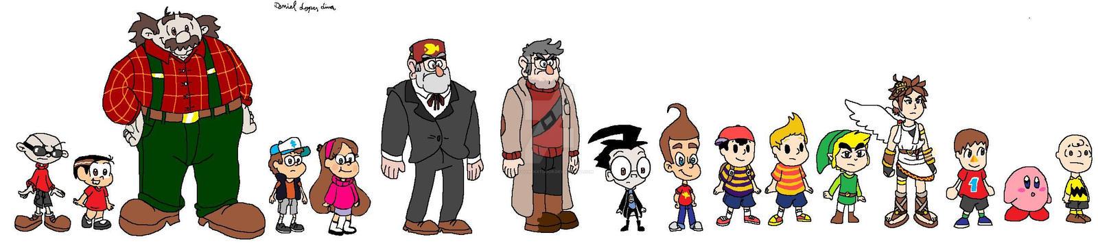 Characters in my drawing style by Cartoonenxtdoor