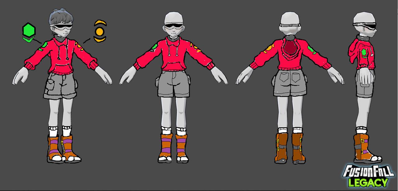 FusionFall Legacy-Galactic Kids Next Door Uniform by Cartoonenxtdoor