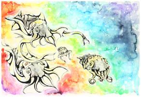 Cloud bringers by Fluffysminion