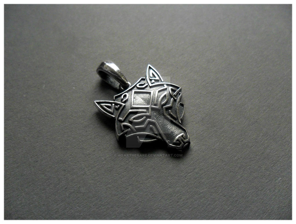 wolfhead silver necklace by weartherare on deviantart. Black Bedroom Furniture Sets. Home Design Ideas
