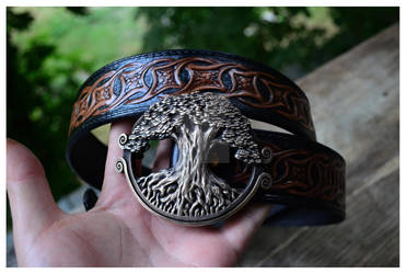Yggdrasil the World Tree Bronze Norse Viking Belt