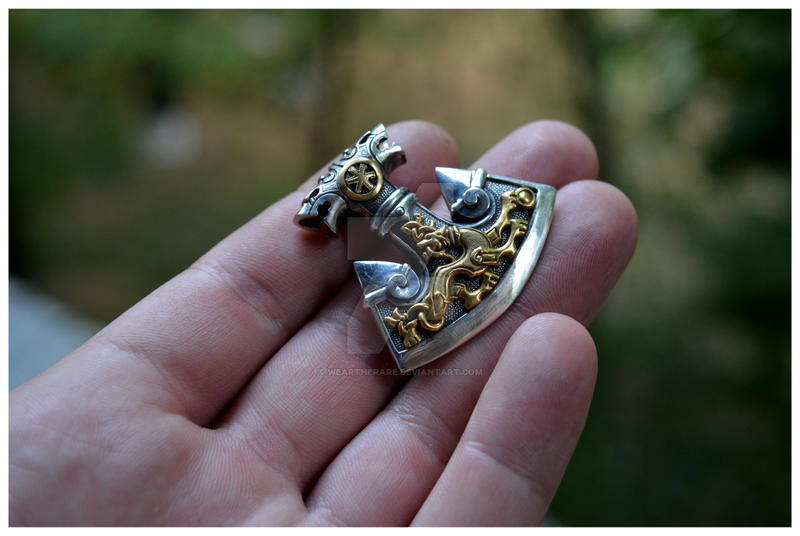 Huge Slavic Perun's Axe Pendant by WearTheRare
