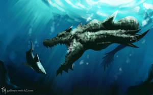 Underwater Predator:SpeedPaint by Tekamza