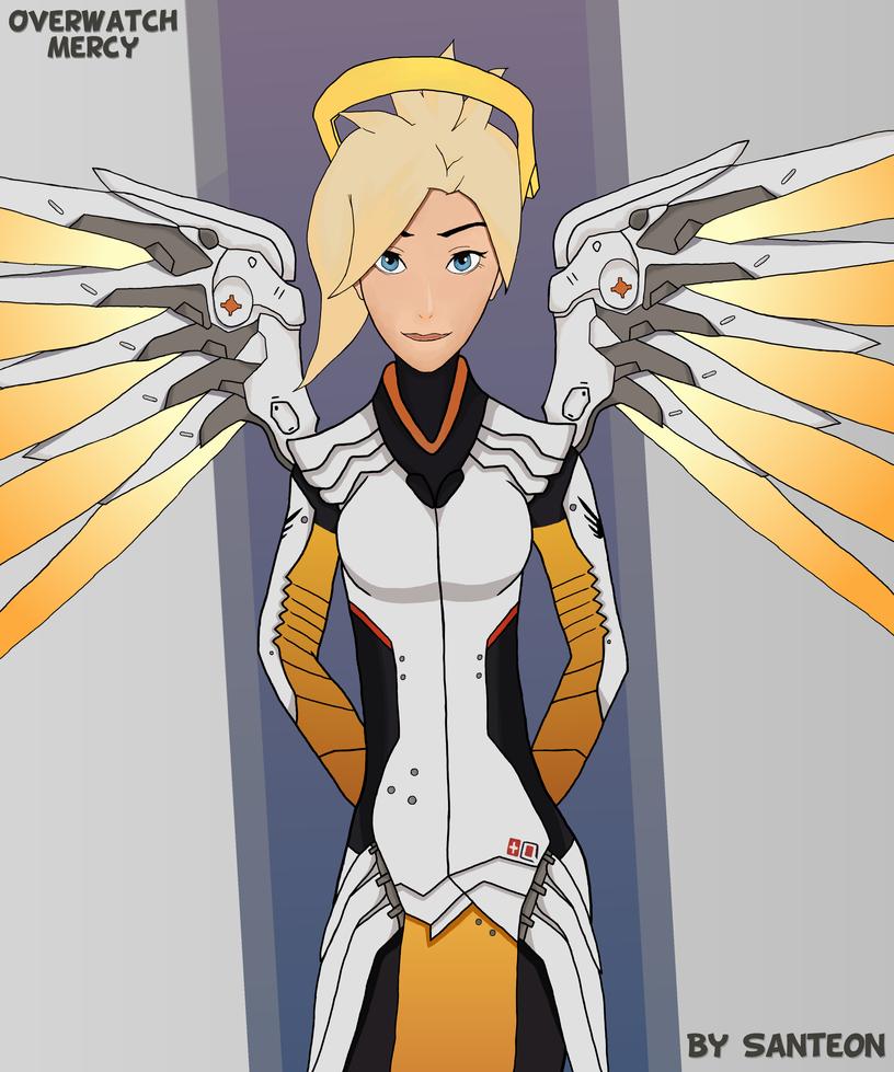 Overwatch Mercy by Santeon