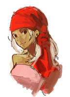 Girl with a Red Turban by sweetmoon