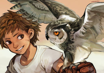 The Boy and the bird by sweetmoon