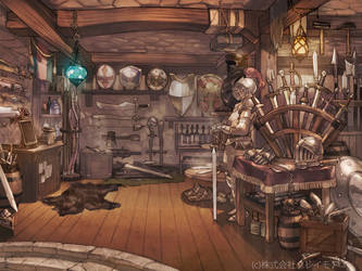 The Armor Shop by sweetmoon