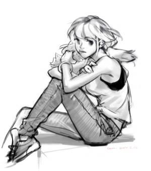 A runnaway girl