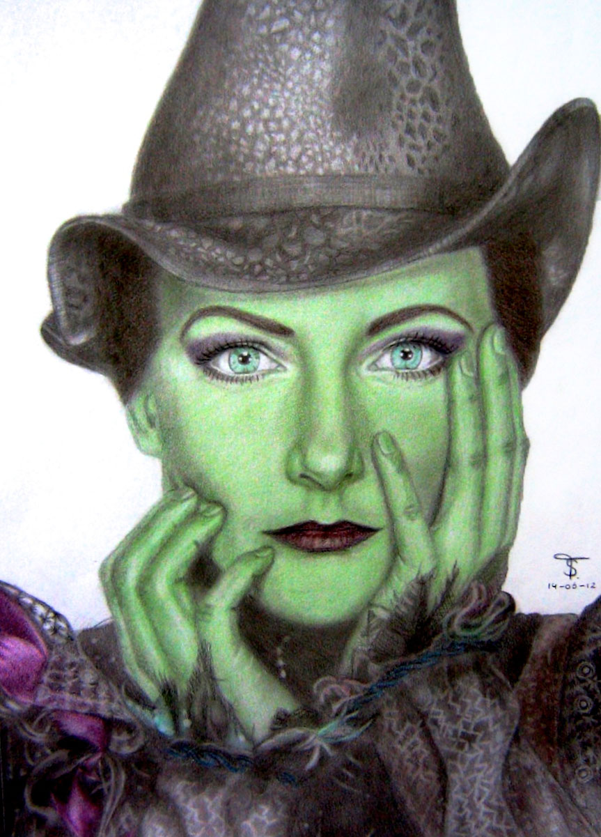 Willemijn Verkaik as Elphaba by tanjadrawing