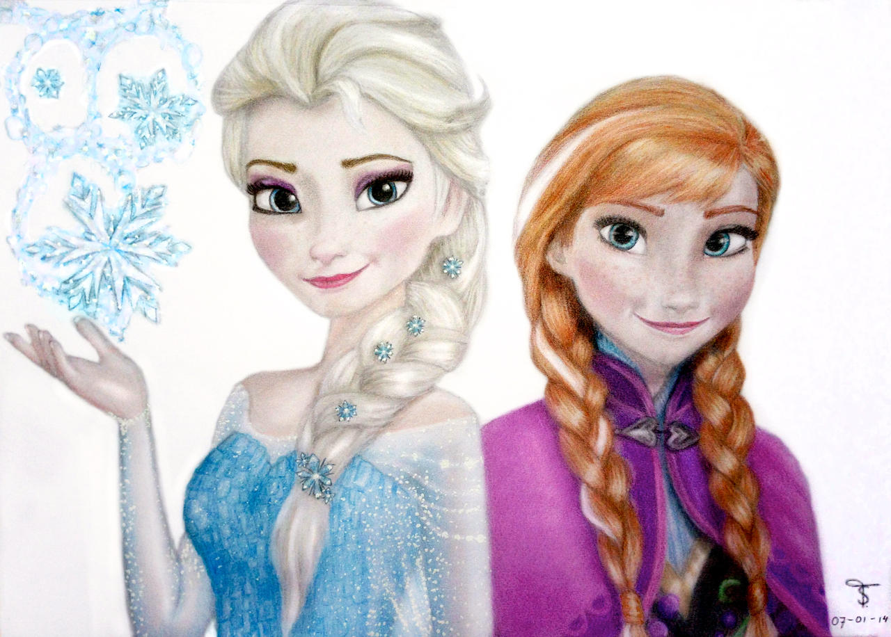 1280 x 916 · 224 kB · jpeg, Drawings of Anna and Elsa From Frozen